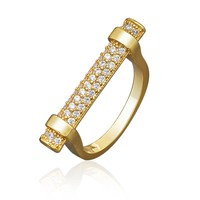 Newness Luxury Brand Luxury Fashion Engagement Party Jewelry Cubic Zirconia Ring for Women Anillos Bijoux