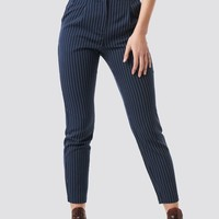 Pinstriped Suit Pants Blue