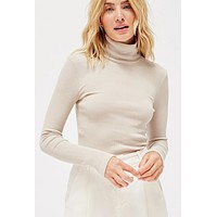 LACAUSA Sweater Rib Turtleneck