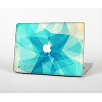 The Vector Abstract Shaped Blue Overlay V2 Skin Set for the Apple MacBook Air 11""