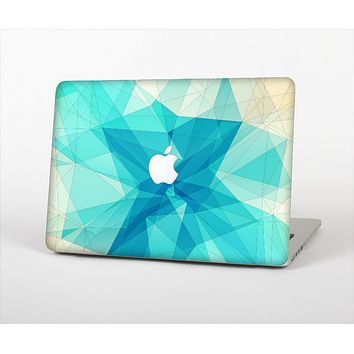 """The Vector Abstract Shaped Blue Overlay V2 Skin Set for the Apple MacBook Pro 13""""   (A1278)"""