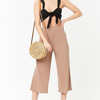 Ribbed High-Rise Culottes