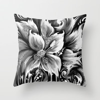 Frontal cortex. Pedals in my mind. Throw Pillow by Kristy Patterson Design