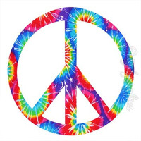 Love Wall Decals Girls Room Graphics Peace Sign Tie Dye Reusable Peel Stick PC9