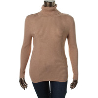 INC Womens Ribbed Knit Long Sleeves Turtleneck Sweater