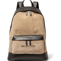Balenciaga - Leather and Suede Backpack