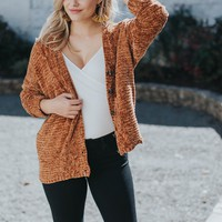 Chenille Button Front Cardigan, Camel