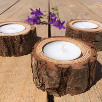 20 Rustic Candle Holders, Tea Light Holder, Woodland Wedding Centerpiece, Rustic Wedding Decor, Home Decor, Country Wedding, Christmas Decor