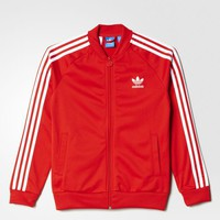 adidas Superstar Jacket - Lush Red,White | adidas US