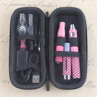 EVOD 4 in 1 Herbal Vaporizer Kit Electronic Cigarette Zipper bag Kit built-in Battery with MT3 atomizer Vape Pen Vaporizer kit
