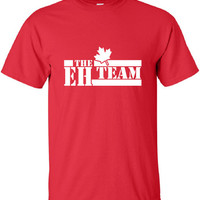 The Eh Team A Canada Canadian Pride Beer Proud Olympic Team Military hockey support T-Shirt Tee Shirt Mens Ladies swag tv Canada ML-253