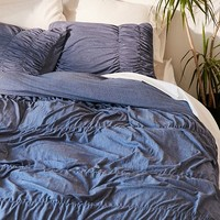 Cinched Jersey Duvet Cover   Urban Outfitters