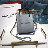 DCCK Balenciaga Fashion Women Men Gb49619 Nappa Suede Square Shopping Pack