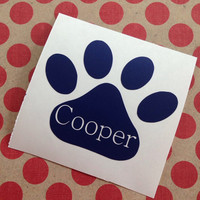 Animal Paw Decal | Monogrammed Animal Paw | Animal Lover Decal | Pet Name Decal | Animal Lover | Paw Decal | Car Decal