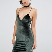 Boohoo Velvet Slip Dress