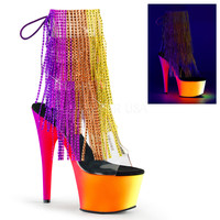 """Rainbow 1017RSF-7 Fringe 7"""" Heel Ankle Boot NEW"""