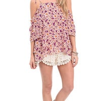 Tripping Daisies Off The Shoulder Top