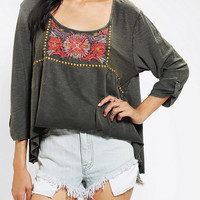 Urban Outfitters - Ecote Floral Embroidered Top