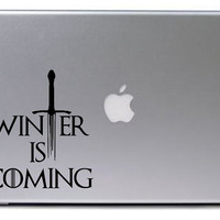 Game of Thrones Decal / Winter is Coming Decal / Macbook Decal / Macbook Sticker / Laptop Decal / Laptop Sticker