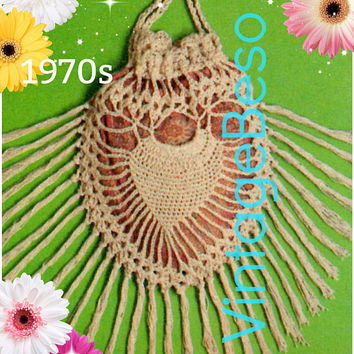 DIGITAL PATTERN • Pineapple Bag Crochet Pattern • Antique Purse • Nod to Victorian Days • 1970s Vintage • PdF Pattern • Retro Fun