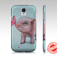 Mini pig phone case for iphone 4/ 4S,  iphone5/ 5S, iphone 6, samsung galaxy s3, s4 or s5- micro pig phone case,  mini pig device case