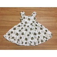 KY's Girls White Sundress with Palm Trees