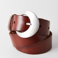 Crescent Buckle Leather Belt | Urban Outfitters