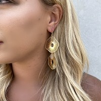 Lili Laser Cut Gold Earrings