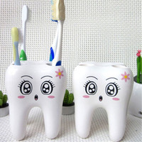 1 pcs Fashion Teeth Style Toothbrush Holder Stand Brush Rack Tooth Brush Shelf Shaving Razor Holder