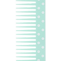 FOREVER 21 Dotted Wide-Tooth Comb Mint/Cream One