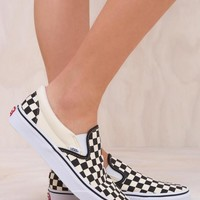VANS Classic Slip On Checker Black/White Sneaker One-nice™