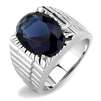 Mens Rings TK3461 Stainless Steel Ring with Synthetic in Montana
