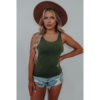 The Softest Tank Top: Olive