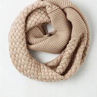 Folk Art Chill Out on the Town Scarf in Cream by ModCloth