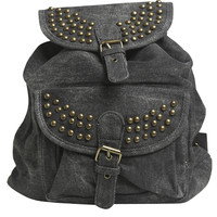 Studded Canvas Backpack   Shop Accessories at Wet Seal