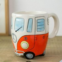 Cartoon Novelty Double Bus Mugs