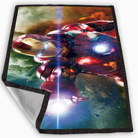 iron man attack Blanket for Kids Blanket, Fleece Blanket Cute and Awesome Blanket for your bedding, Blanket fleece *