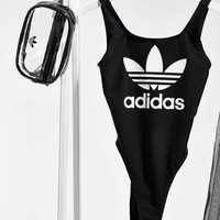 ADIDAS Women Print Backless One Piece Swimwear Bikini Swimsuit