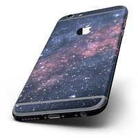 The Subtle Pink Glowing Space Six-Piece Skin Kit for the iPhone 6/6s or 6/6s Plus