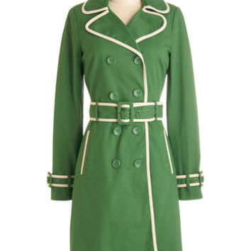 ModCloth Military Long Long Sleeve If It Ain't Got That Spring Coat
