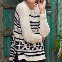 Line It Up Striped Pullover Sweater