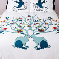 ModCloth Critters Too Cute to be True Duvet Cover in Full, Queen