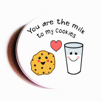 Food Magnets Cookies Milk Cute Pinback Buttons Love Hearts