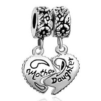 Pugster Mothers Day Gifts Heart Mother & Daughter Beads Fit Pandorai Charm Bracelet For Mom: Pugster: Amazon.ca: Everything Else
