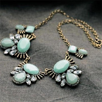 Mint Retro Necklace