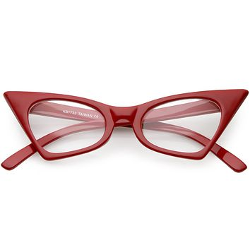 Women's Retro High Pointed Cat Eye Clear Lens Glasses C615