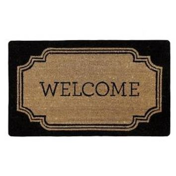 "Welcome Estate Rubber & Coir Doormat (1'7""x2'7"") - Threshold™"
