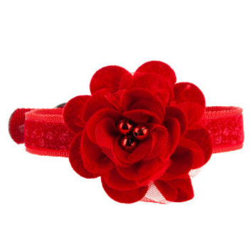 Top Paw® PetHoliday™ Tulle Flower Dog Collar - Holiday Collars & Tags - Collars, Harnesses & Leashes - PetSmart