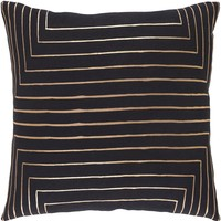 Crescent Throw Pillow Black, Yellow