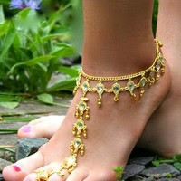 Beautiful Gold Diamante Anklet from LullaBellz